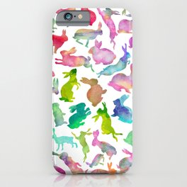 Watercolour Bunnies iPhone Case