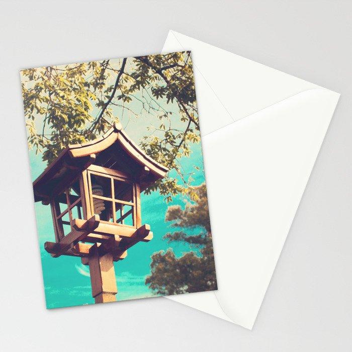 Japanese Lamp  (Retro Vintage Photography) Stationery Cards
