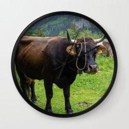 Swiss Cow Wall Clock