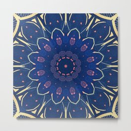 Pattern and Blues Metal Print