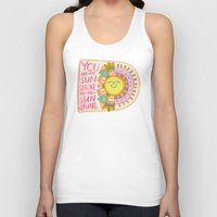 you are my sunshine Tank Tops featuring You Are My Sunshine by Gigglebox