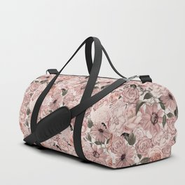 Vintage Floral Allover In Peach Pastels Duffle Bag