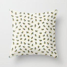 Dancing bee pyjama pattern Throw Pillow