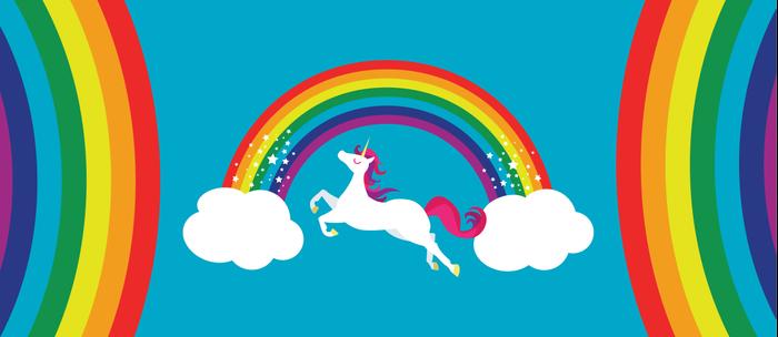 Unicorn Rainbow in the Sky Coffee Mug
