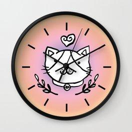 Cat doodles Wall Clock