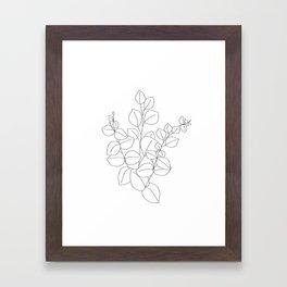 Minimalistic Eucalyptus  Line Art Framed Art Print