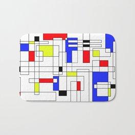 Abstract City Grid Map Bath Mat
