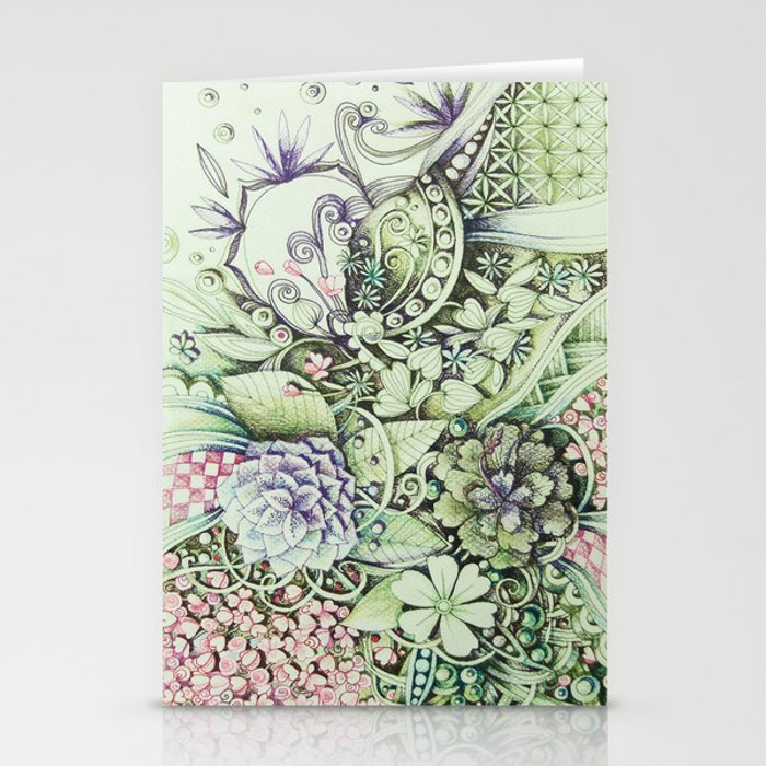 Flowerbed Stationery Cards