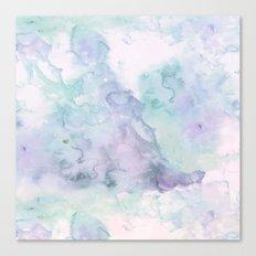 Pastel modern purple lavender hand painted watercolor wash Canvas Print