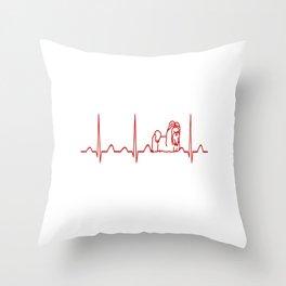 Shih Tzu Heartbeat Throw Pillow