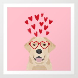Yellow Lab valentines day labrador retriever dog breed must have gifts retrievers Art Print