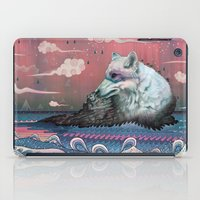 jon snow iPad Cases featuring Lone Wolf by Mat Miller