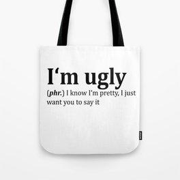 Ugly Dictionary Meme Tote Bag