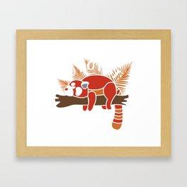 Red Panda Gift: To Do List - Nothing! I Raccoon Framed Art Print