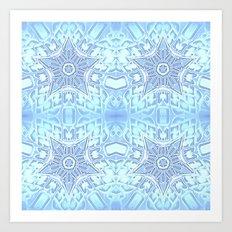 Frozen Blue Stars Art Print