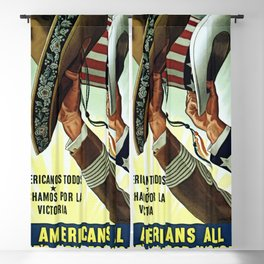 Americans All - Let's Fight for Victory Blackout Curtain