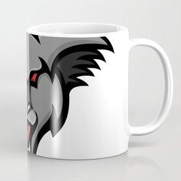 Angry Koala Head Mascot Coffee Mug