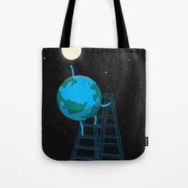 Reach the moon Tote Bag
