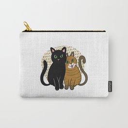 Two cute cartoon cats are friends forever Carry-All Pouch