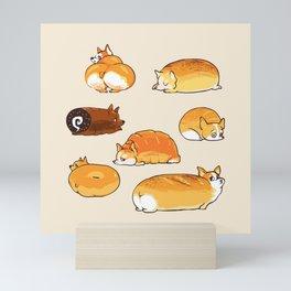 Bread Corgis Mini Art Print