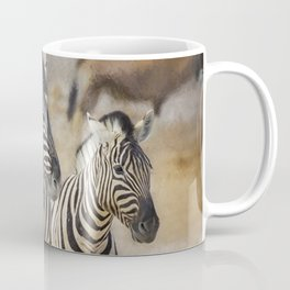 Zebra Mother and Foal at Etosha Coffee Mug