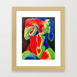 Thermal Sensual Woman Oil Painting Framed Art Print