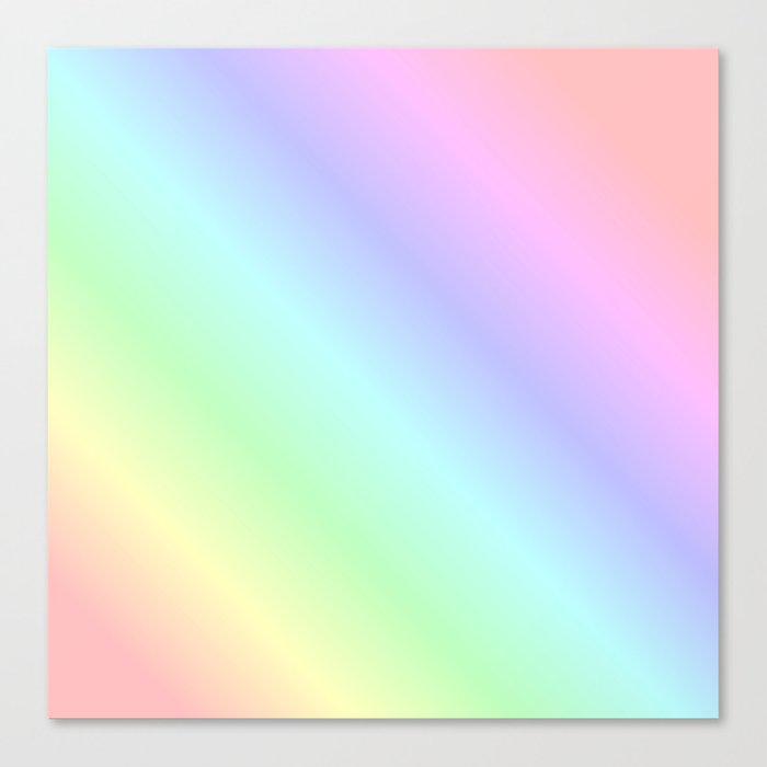 Pastel rainbow Leinwanddruck