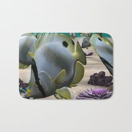 Butterfly Fish Bath Mat