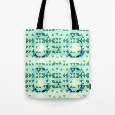Green Tribomb Tote Bag