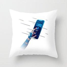 Not a Robot Throw Pillow