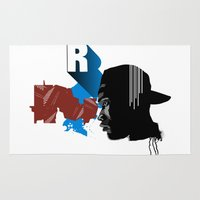 rap Area & Throw Rugs featuring Rap by David Navascues