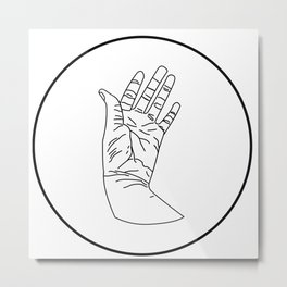 wrinkly hand Metal Print