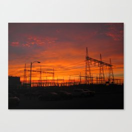 Electricial Sunset Canvas Print