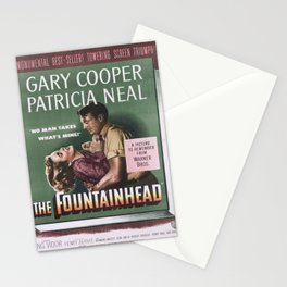 Affiche the fountainhead   gary cooper   patricia neal. 1949  Stationery Cards