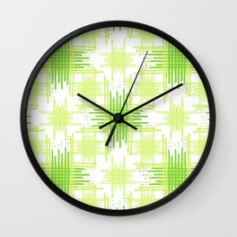 Intersecting Lines Pattern Design Wall Clock