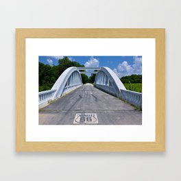 Close up of this Rainbow Curve Bridge Constructed in 1923 Framed Art Print