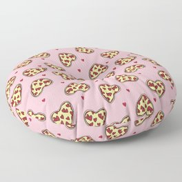 Pizza hearts cute love gifts foodie valentines day slices Floor Pillow