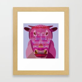 A Cow in Los Angeles Framed Art Print