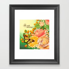 Full Bloom | Butterfly loves oranges Framed Art Print