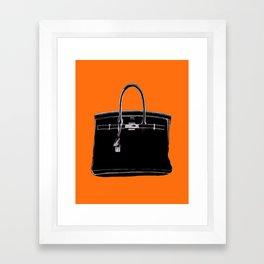 FRENCH CLASSIC BAG Framed Art Print