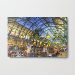 The Apple Market Covent Garden London Oil Metal Print