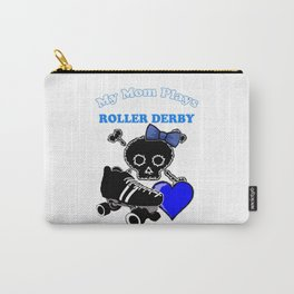 My Mom Plays Roller Derby (Girl) Carry-All Pouch
