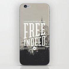 Free Indeed - Photo iPhone Skin