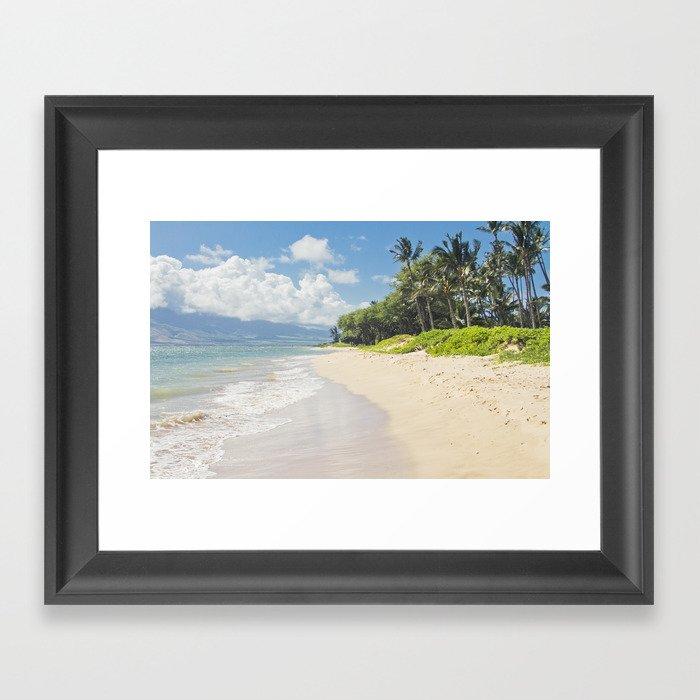 Kawililipoa Beach Kihei Maui Hawaii Framed Art Print By Sharonmau