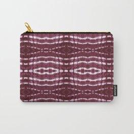 Itajime Burgundy Stripe Carry-All Pouch