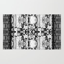 Modern Bohemian Black and White Pattern Rug