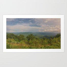 Funnel Top Overlook - NC Art Print