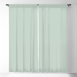 Light Sage Green Solid Blackout Curtain