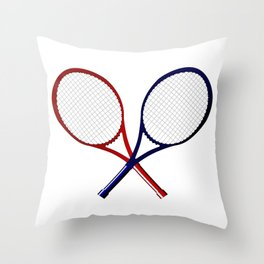 Crossed Rackets Throw Pillow