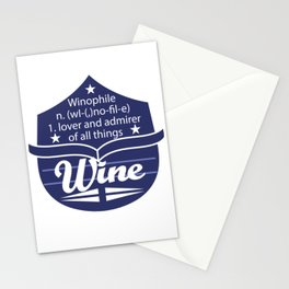 Cute & lovely Admirer Tee Design Winophile Stationery Cards